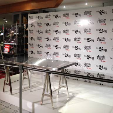 Events & Staging - Hudson's Bay Jamie Oliver By Tfal - Step & Repeat Wall | Unit 11