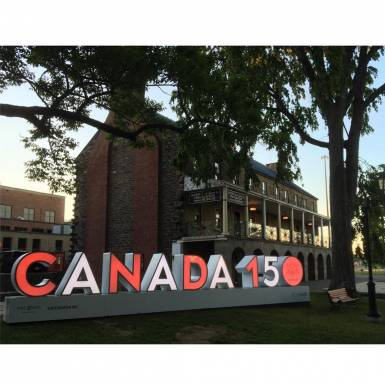 Marketing & Displays - 3D Fredericton Canada 150 LED-Lit Letter Sculpture Marketing Display | Unit 11