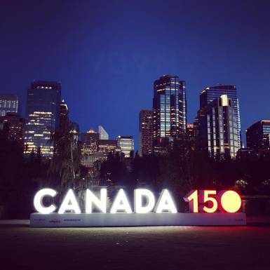 Displays & Marketing - 3D Calgary Canada 150 LED-Lit Letter Sculpture Marketing Display | Unit 11